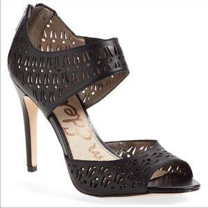 Sam Edelman Black Alva Laser Cut Heels